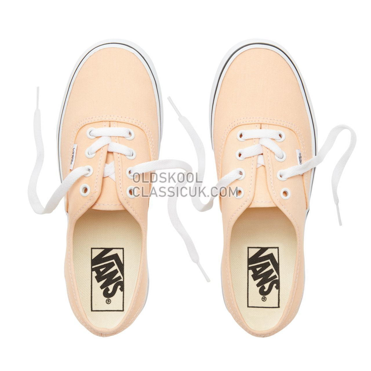 Vans Color Theory Authentic Sneakers (Unisex) Mens Bleached Apricot/True White VA38EMU5Y Shoes