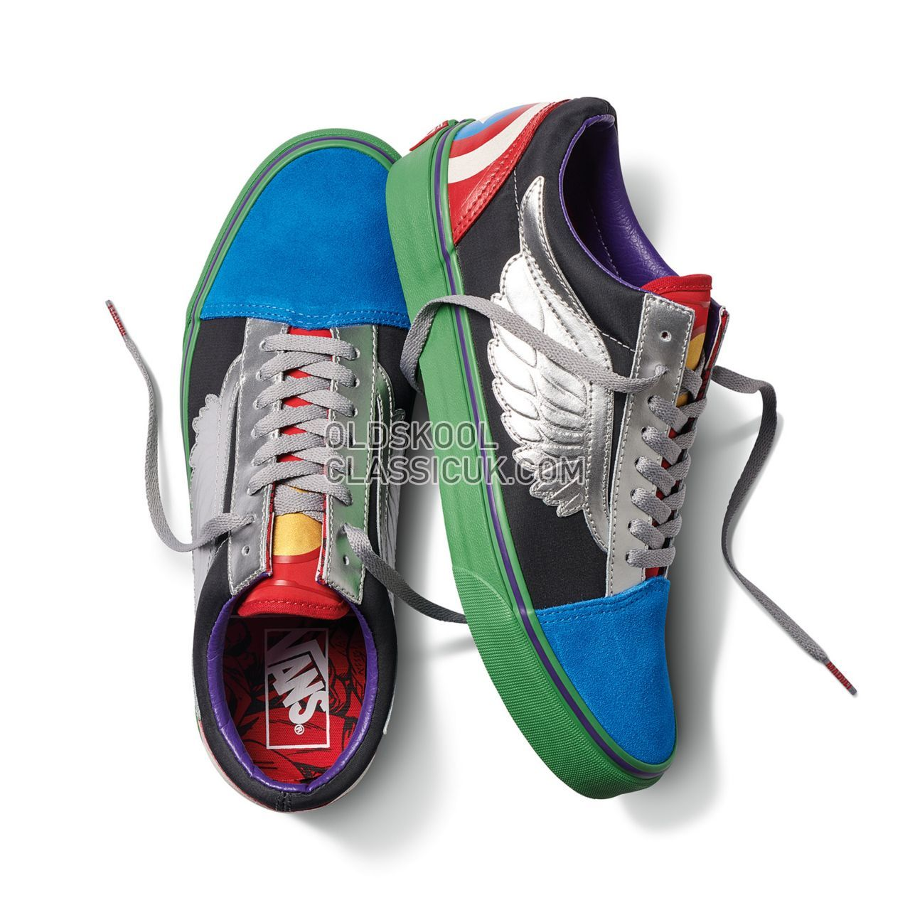 Vans X Marvel Old Skool Sneakers Mens Womens Unisex (Marvel) Avengers/Multi VA38G1U3V Shoes