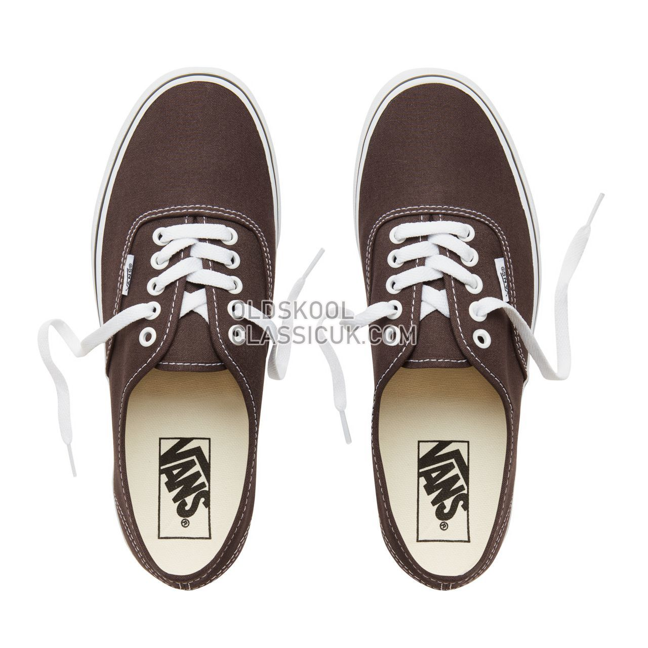 bb7b066a0babbe ... Vans Color Theory Authentic Sneakers (Unisex) Mens Chocolate Torte True  White VA38EMU5Z Shoes