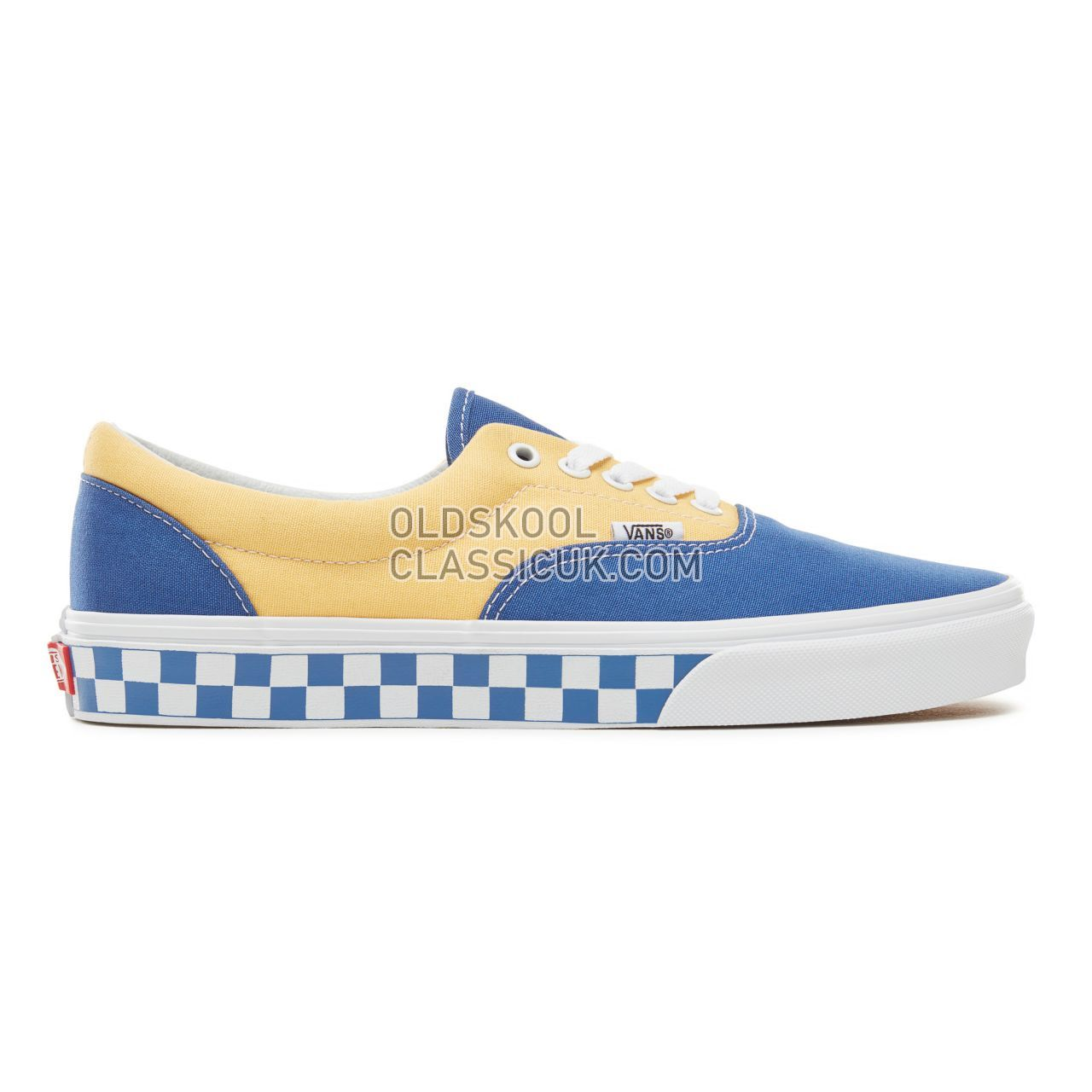 Vans BMX Checkerboard Era Sneakers Mens (Bmx Checkerboard) True Blue/Yellow VA38FRU8I Shoes