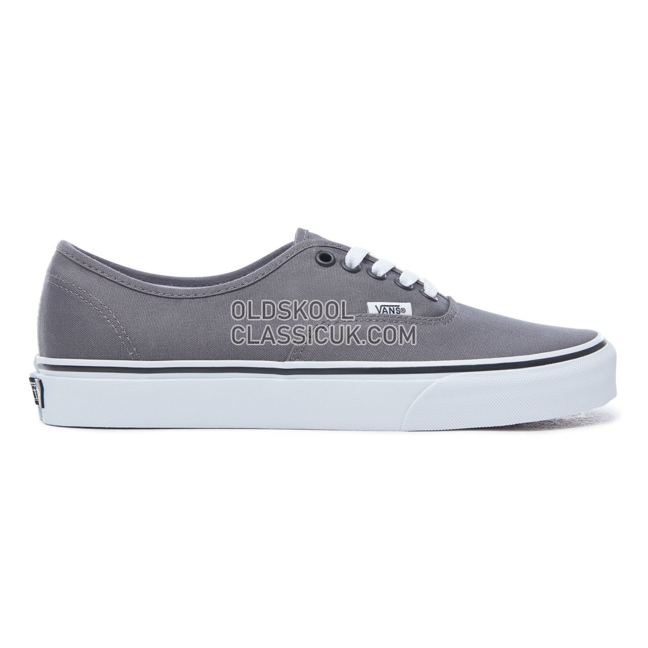 Original- neuartiger Stil neue Fotos Vans Authentic Sneakers Mens Pewter/Black VJRAPBQ Shoes - £52