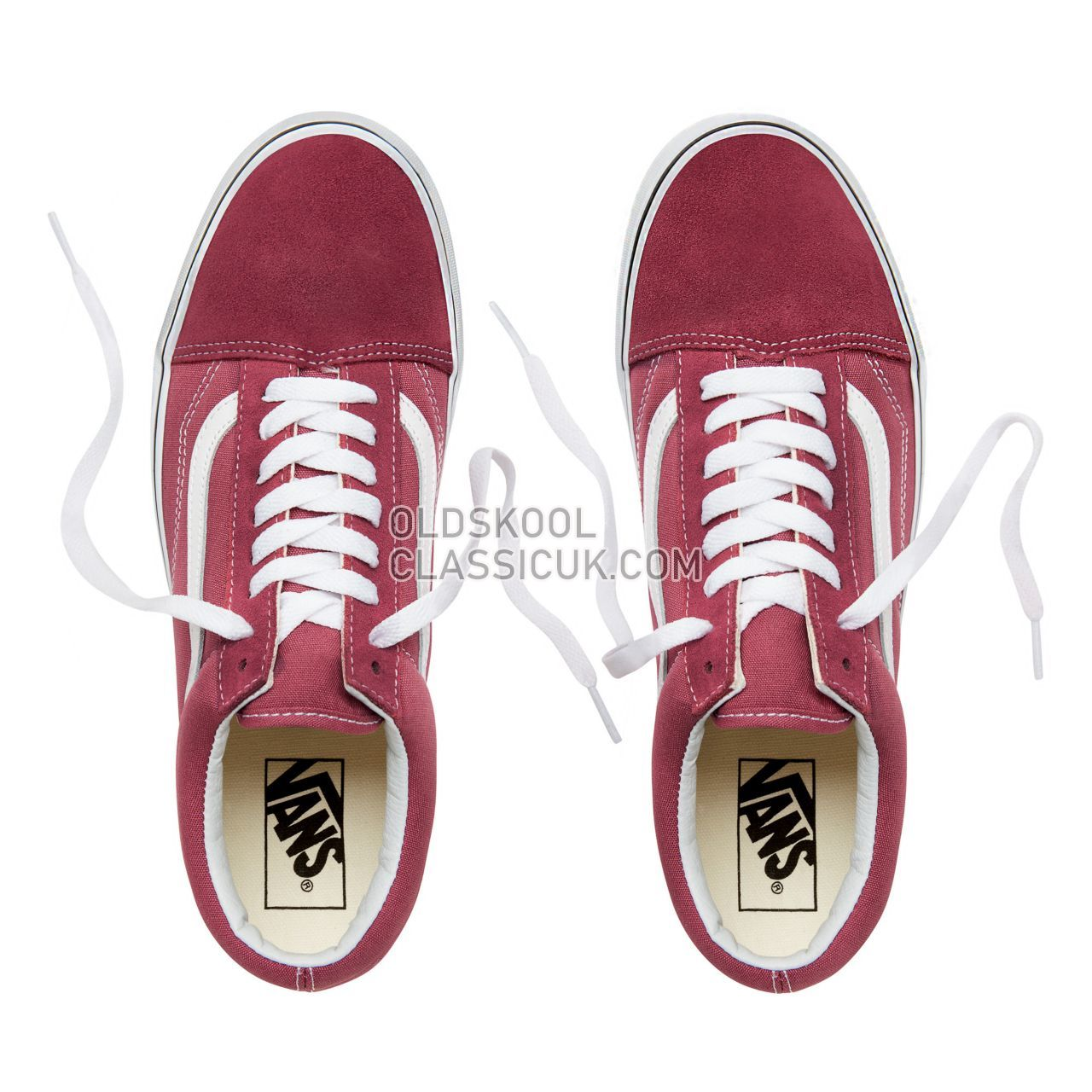 Vans Color Theory Old Skool Sneakers (Unisex) Mens Womens Unisex Dry Rose/True White VA38G1U64 Shoes
