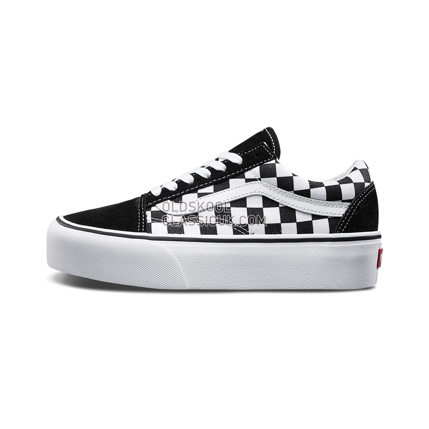 4634106adb16d0 Vans Checkerboardboard Old Skool Platform Sneakers Mens Womens Unisex Black-True  White B3UHRK Shoes ...