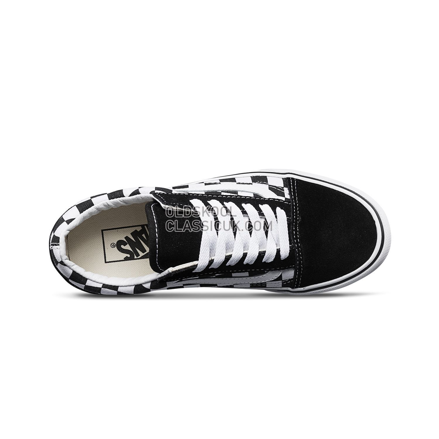 d91e39aff9d Vans Checkerboardboard Old Skool Platform Sneakers Mens Womens Unisex Black-True  White B3UHRK Shoes - £65