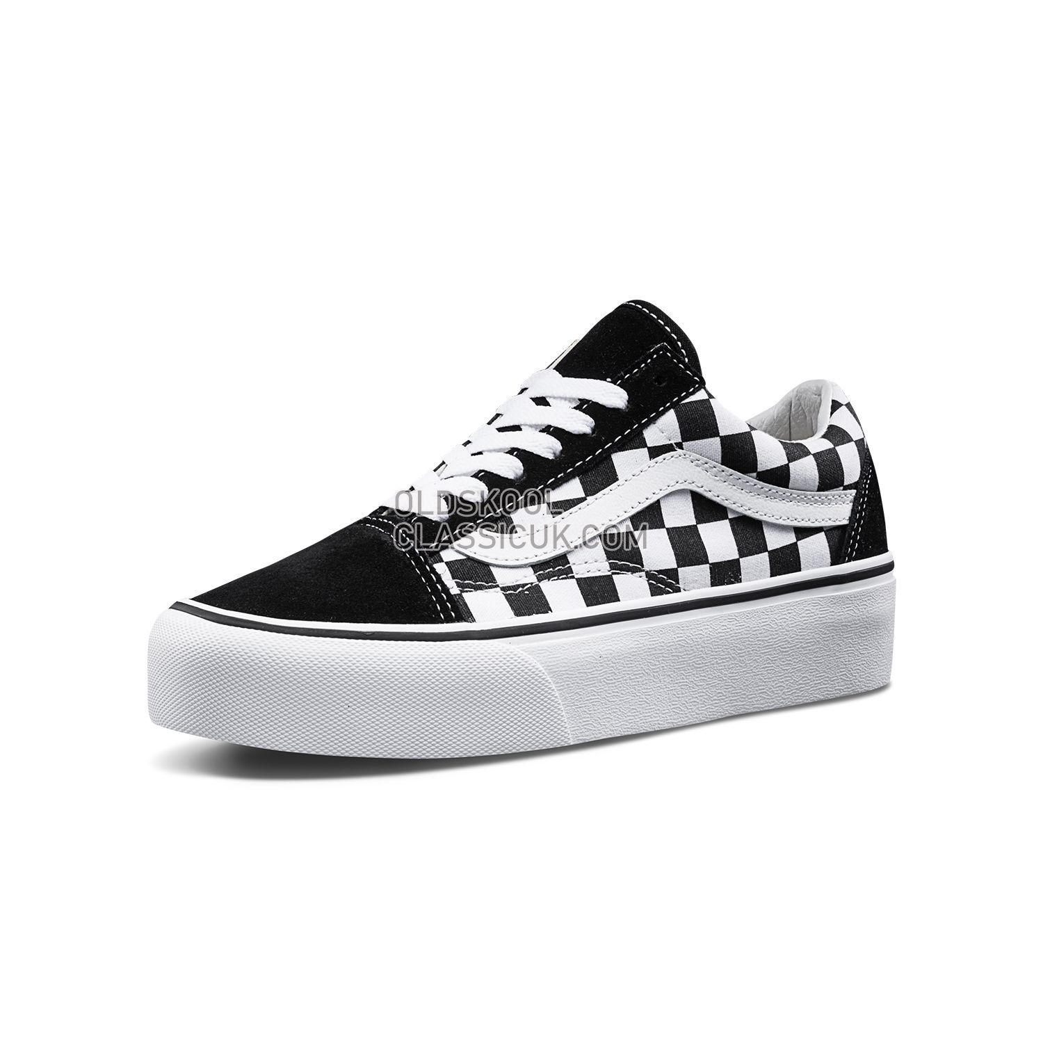75f4e7a12386 ... Vans Checkerboardboard Old Skool Platform Sneakers Mens Womens Unisex  Black-True White B3UHRK Shoes ...