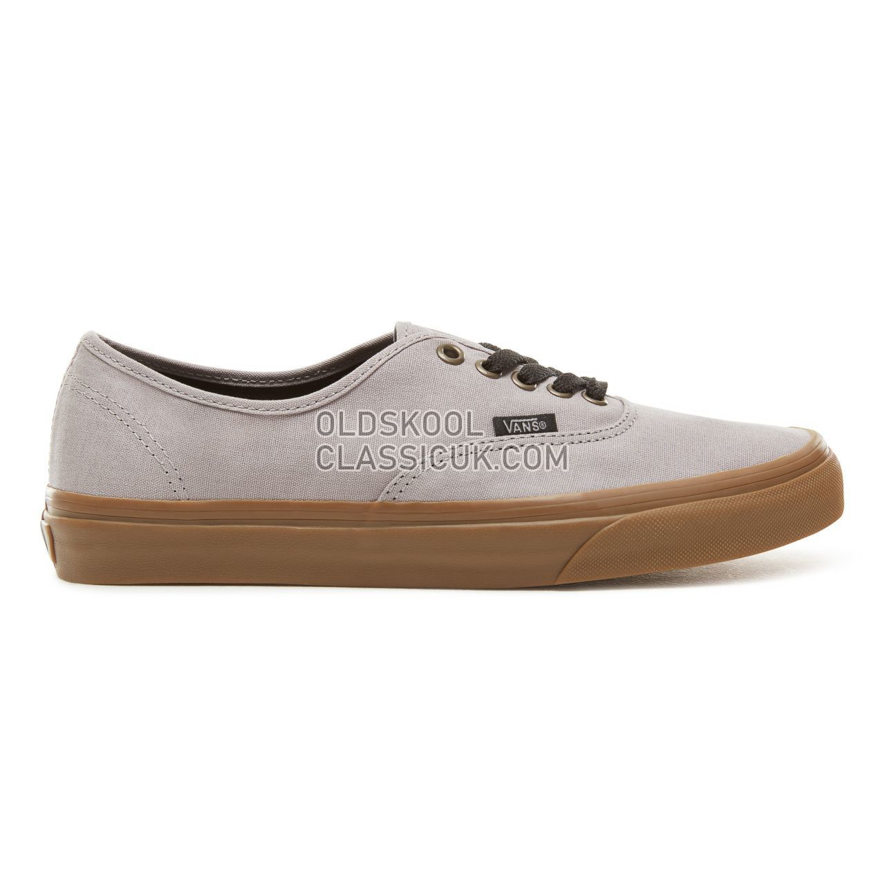 Vans Gum Outsole Authentic Sneakers Mens (Gum Outsole) AlloyBlack VA38EMU40 Shoes £47
