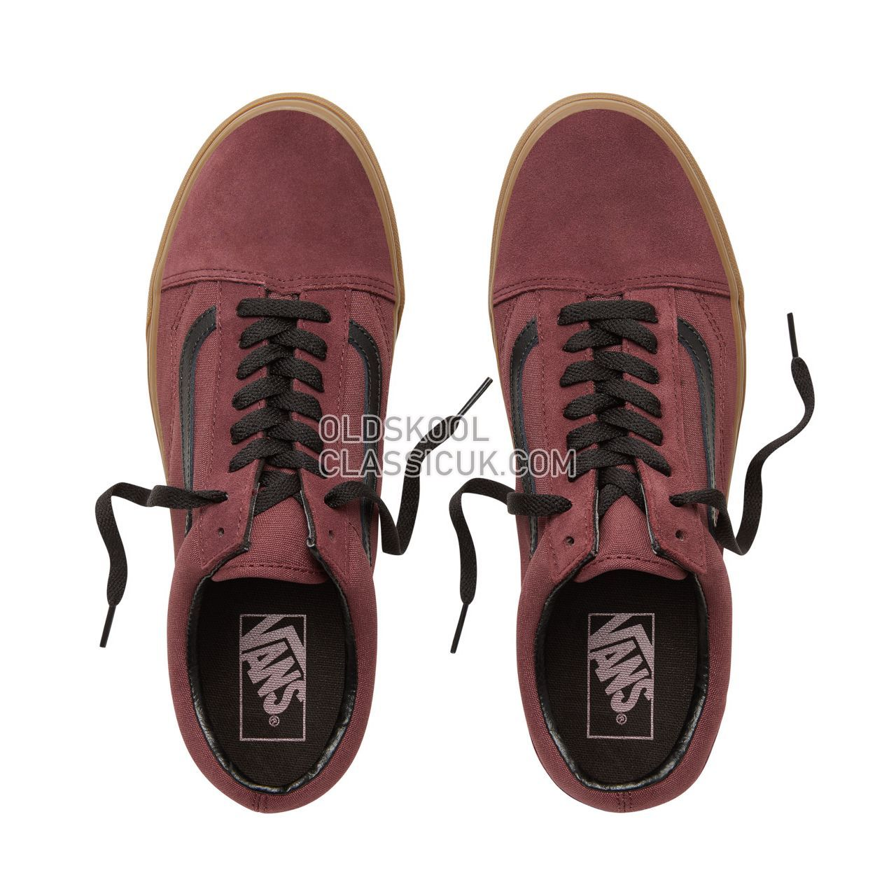 Vans Suede Gum Outsole Old Skool Sneakers Mens Womens Unisex (Gum Outsole) Catawba Grape/Black VA38G1U5A Shoes