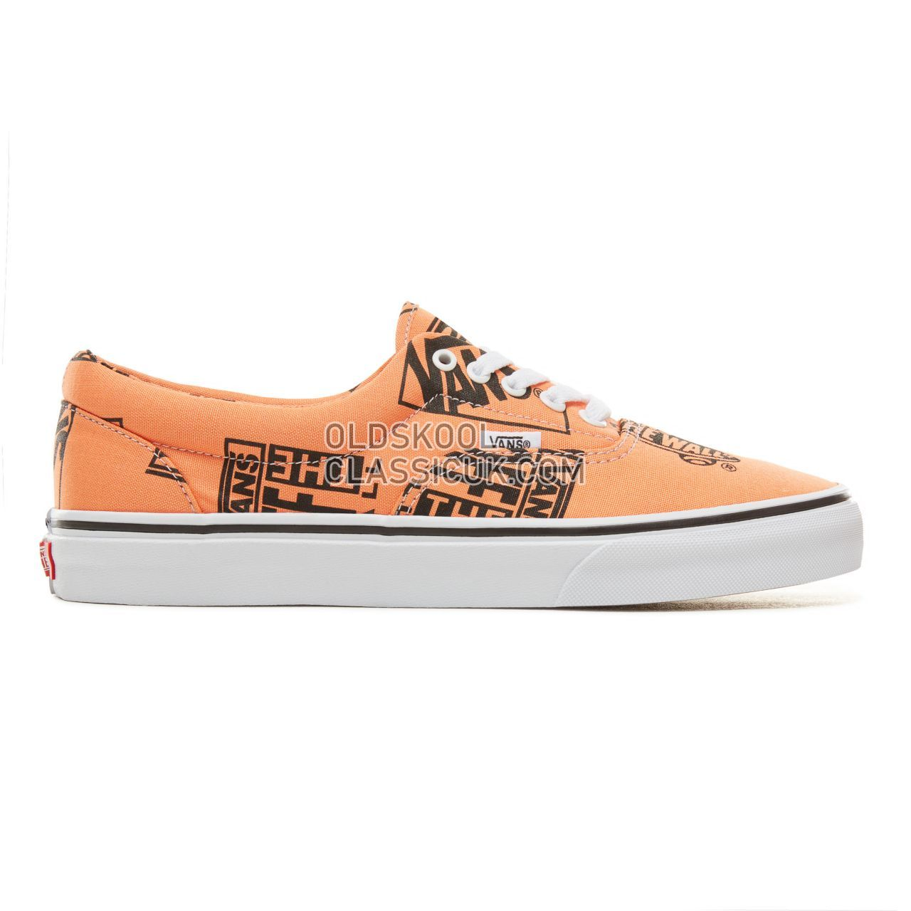 Vans Logo Mix Era Sneakers Mens (Logo Mix) Tangerine/Black VA38FRU8K Shoes