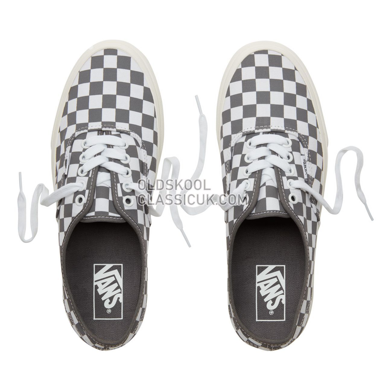 Vans Checkerboard Authentic Sneakers Mens (Checkerboard) Pewter/Marshmallow VA38EMU53 Shoes