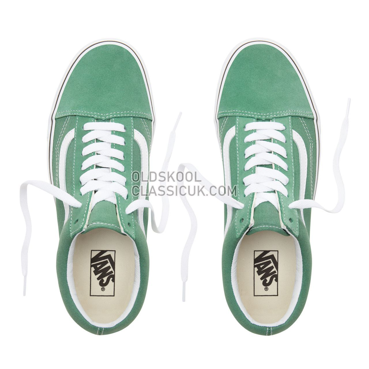 Vans Old Skool Sneakers Mens Womens Unisex Deep Grass Green/True White VN0A38G1UKV Shoes