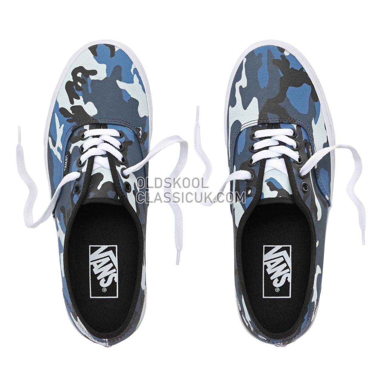 Vans Pop Camo Authentic Sneakers Mens (Pop Camo) Black/Dress Blues/True White VA38EMRK2 Shoes