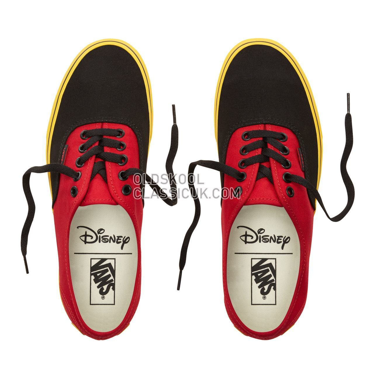 Vans Disney x Vans Authentic Sneakers Mens (Disney) Mickey/Red/Yellow VN0A38EMUK9 Shoes