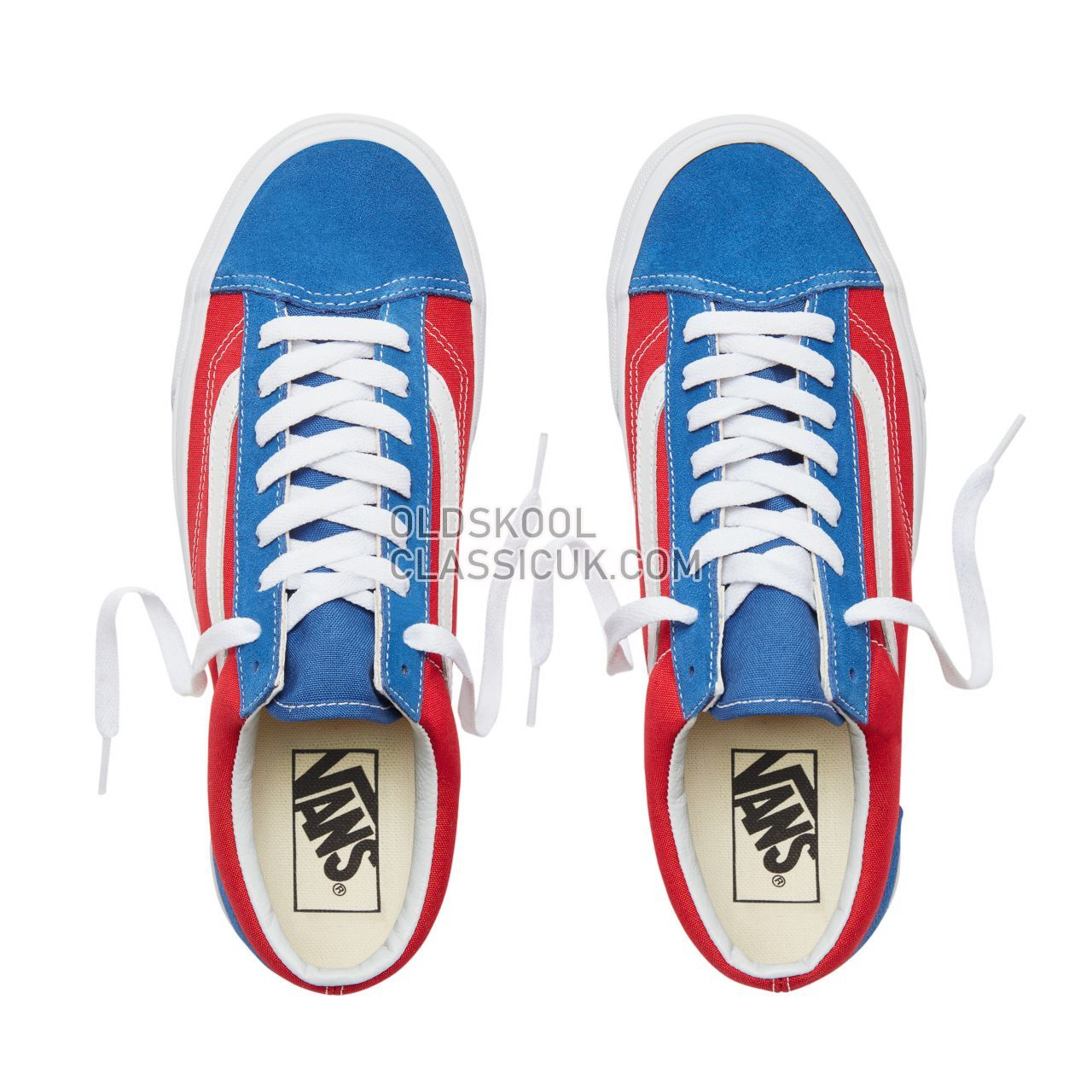 Vans Suede BMX Checkerboard Style 36 Sneakers Mens (Bmx Checkerboard) True Blue/Red VA3DZ3U8H Shoes