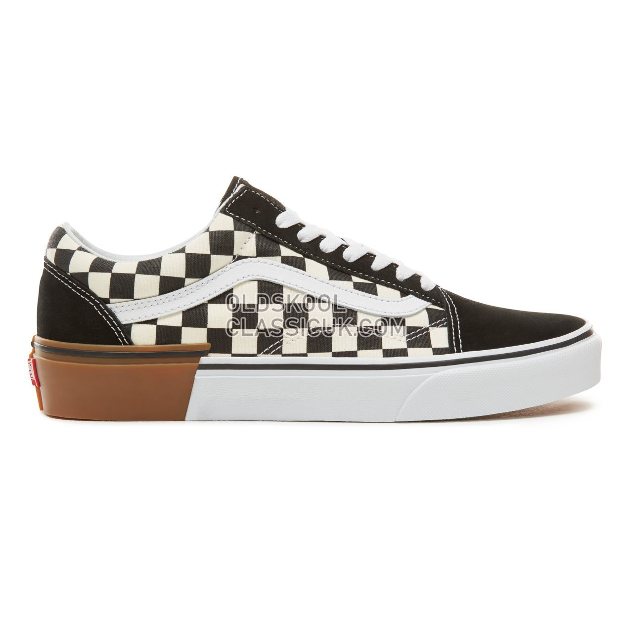 Vans Suede Gum Block Old Skool Sneakers Mens Womens Unisex (Gum Block) Checkerboard VA38G1U58 Shoes