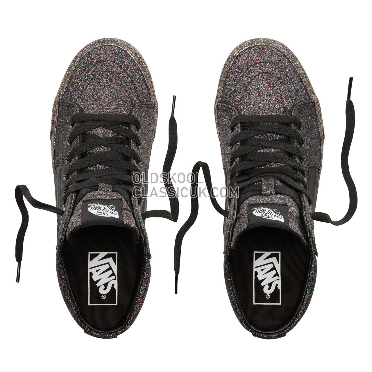 Vans Rainbow Glitter Sk8-Hi Sneakers Womens (Rainbow Glitter) Black/Black VN0A38GEUKN Shoes