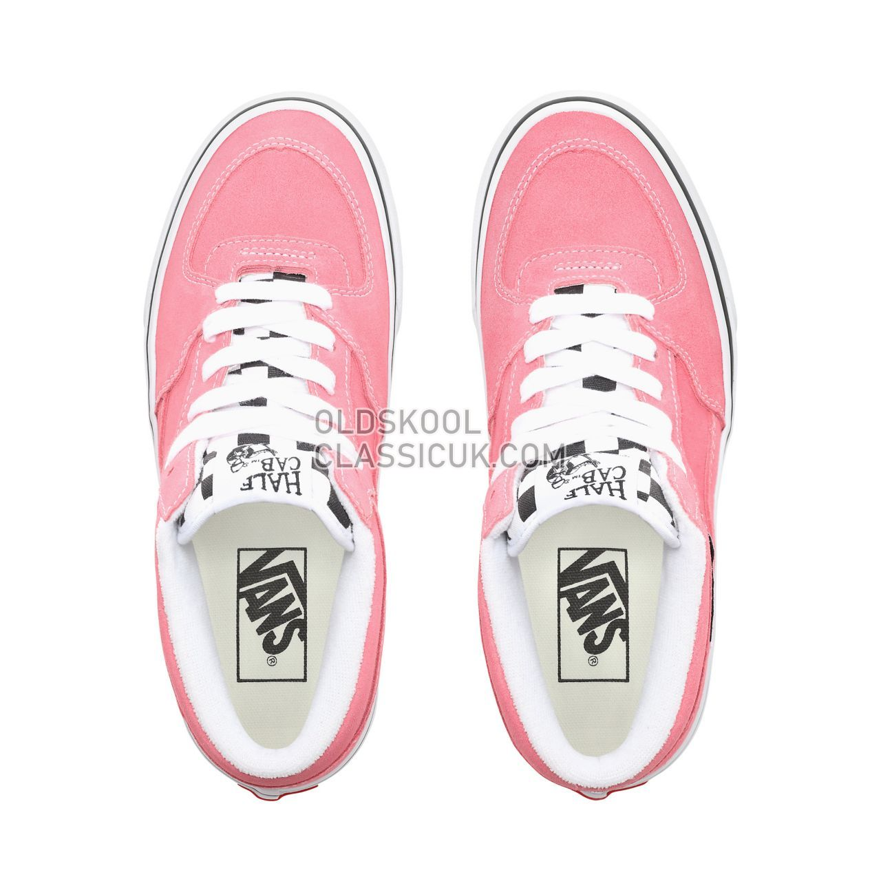 Vans Suede Half Cab Sneakers Womens (Suede) Strawberry Pink/True White VN0A348EVQ3 Shoes
