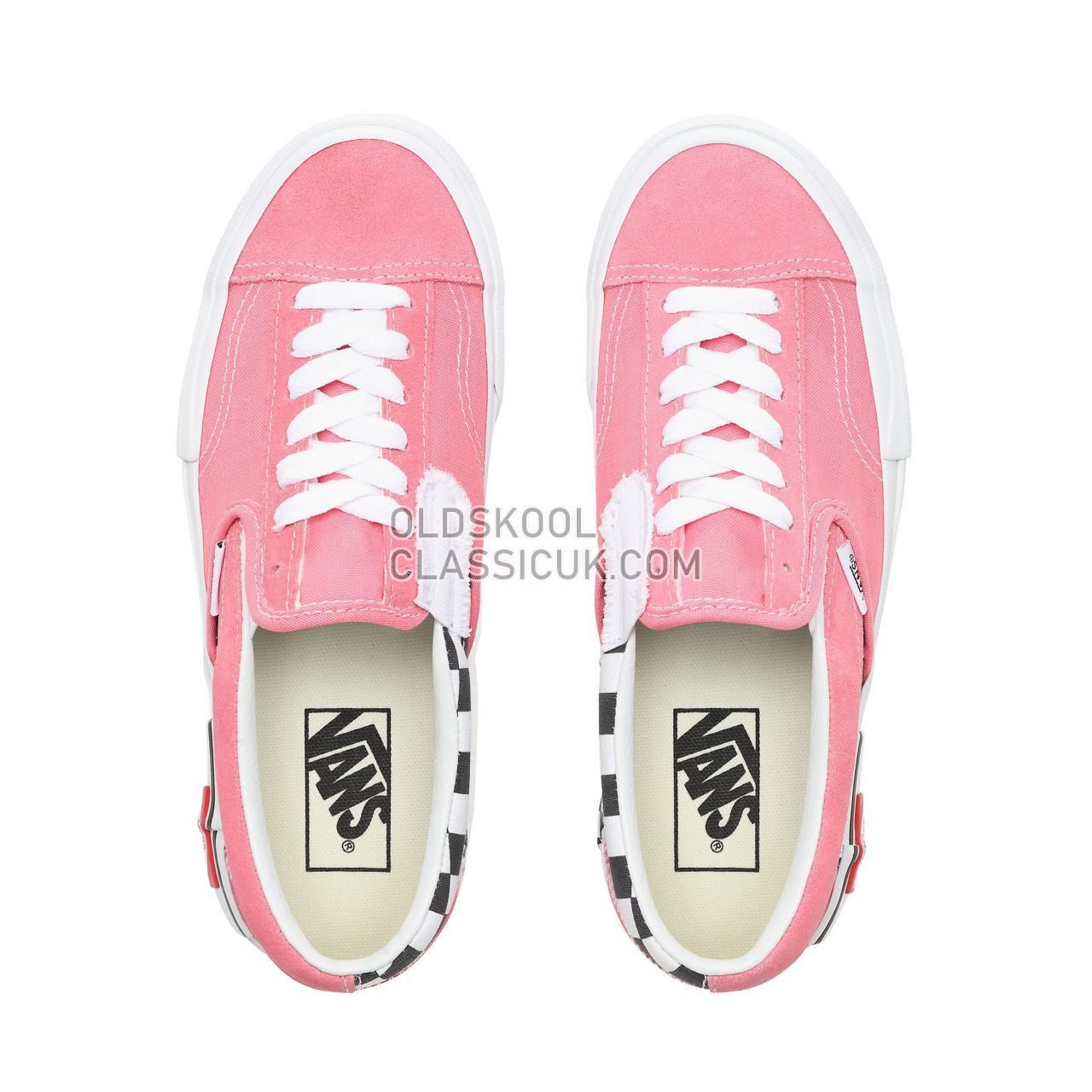 Vans Checkerboard Slip-On Cap Sneakers Womens (Checkerboard) Strawberry Pink/True White VN0A3WM5VOX Shoes