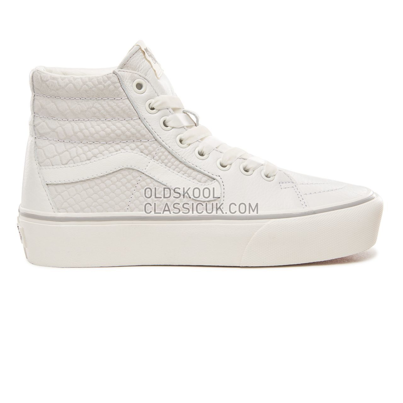 Vans Leather Sk8-Hi Platform 2.0 Sneakers Womens (Leather) Snake/White VN0A3TKNUPK Shoes