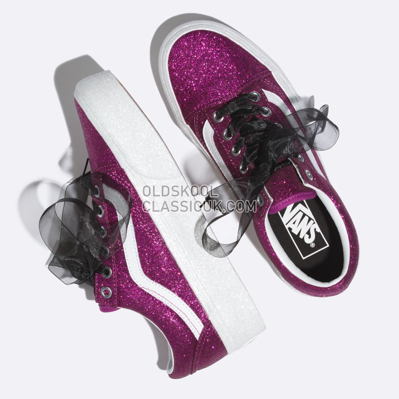 wholesale sales new high quality unequal in performance Vans Glitter Old Skool Platform Sneakers Womens (Glitter ...