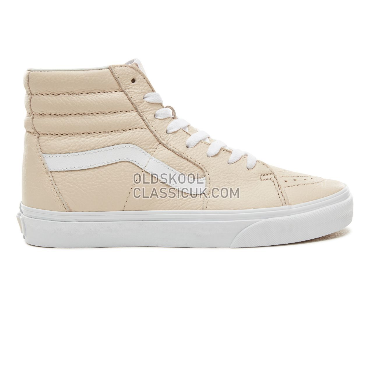 Vans Leather Sk8-Hi Sneakers Womens (Leather) Sand Dollar VA38GEUA8 Shoes