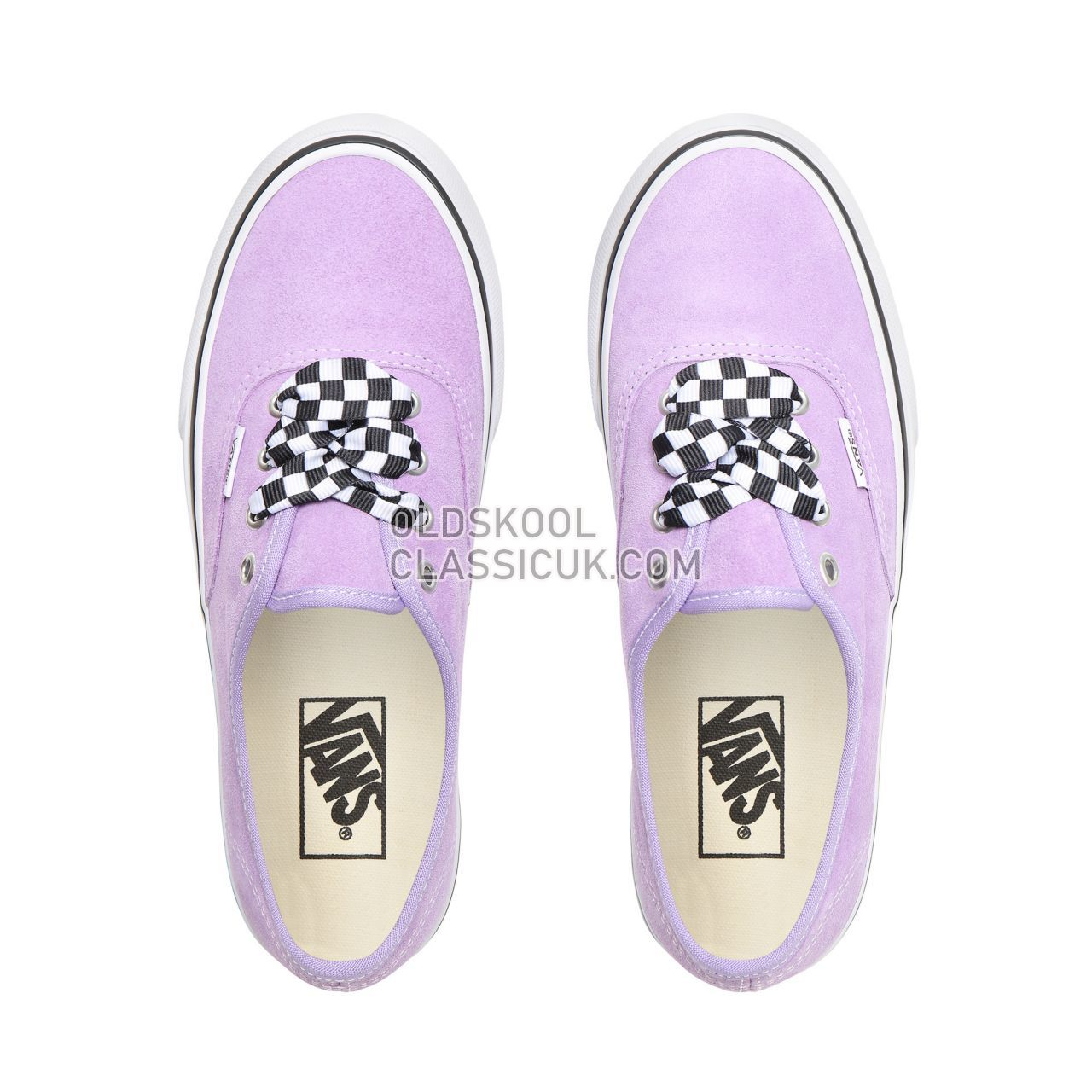 547587d4c6 Vans Checkerboard Lace Authentic Platform 2.0 Sneakers Womens (Checkerboard  Lace) Violet Tulip True White VN0A3AV8S1V Shoes - £58