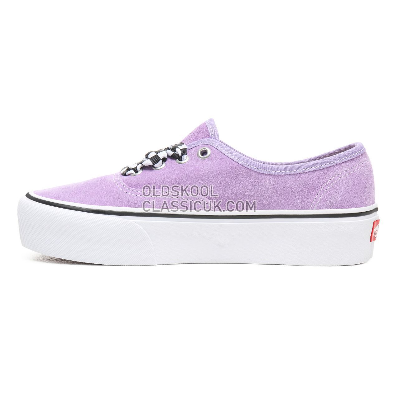 4ed32ede1085f2 ... Vans Checkerboard Lace Authentic Platform 2.0 Sneakers Womens ( Checkerboard Lace) Violet Tulip True ...