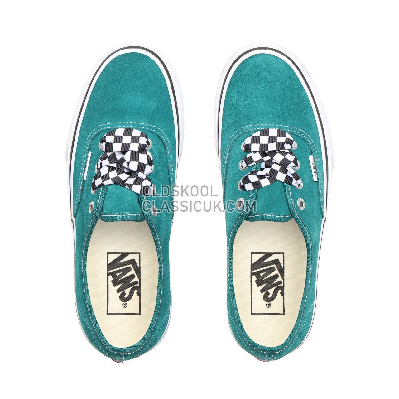 Vans Checkerboard Lace Authentic Platform 2.0 Sneakers Womens (Checkerboard Lace) Quetzal Green/True White VN0A3AV8S1W Shoes