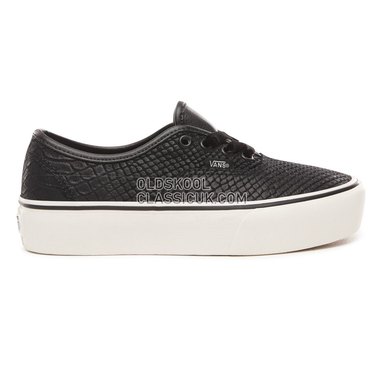 ef31bab44f Vans Leather Authentic Platform 2.0 Sneakers Womens (Leather) Snake Black  VN0A3AV8UQF Shoes ...