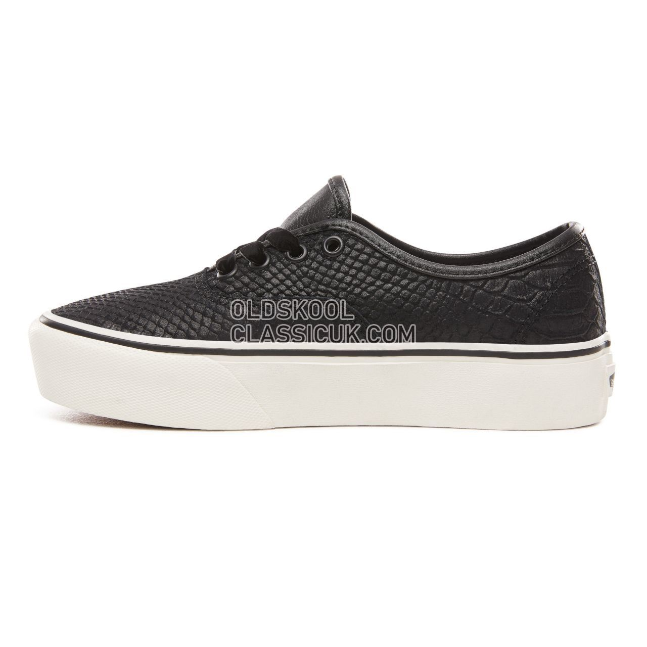 5d9ca7b3e4 ... Vans Leather Authentic Platform 2.0 Sneakers Womens (Leather) Snake  Black VN0A3AV8UQF Shoes ...