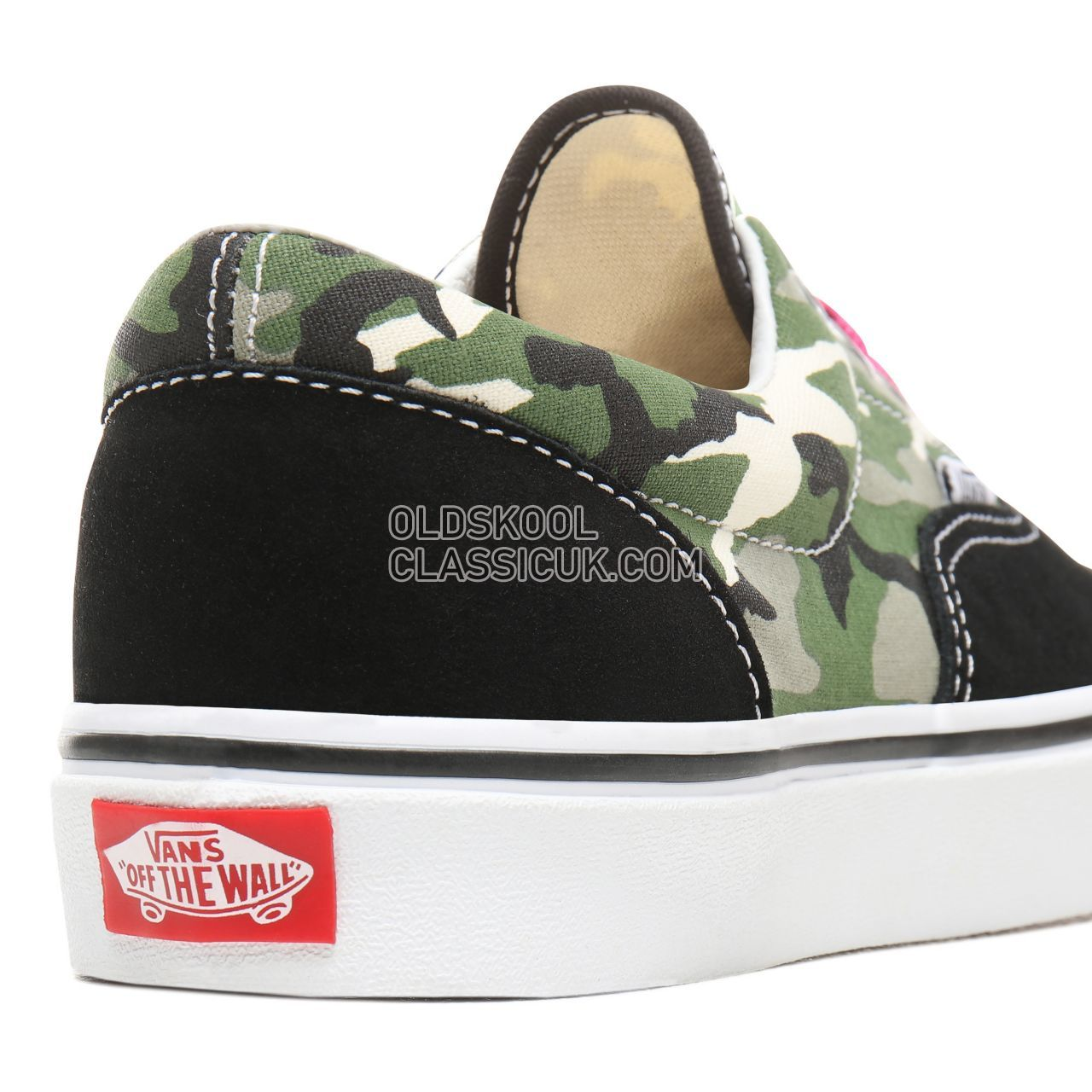Vans Laurel Camo Era Sneakers Womens (Laurel Camo) Black/Very Berry/True White VN0A38FRSZC Shoes