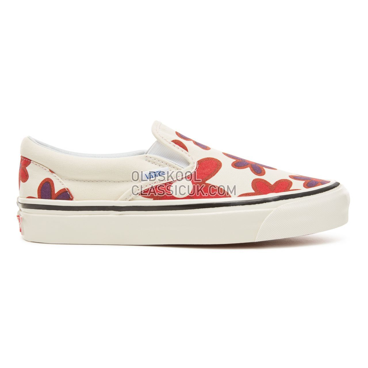 Vans Anaheim Factory Classic Slip-On 98 Sneakers Womens (Anaheim Factory) Og White/Flower Power VA3JEXU7Y Shoes