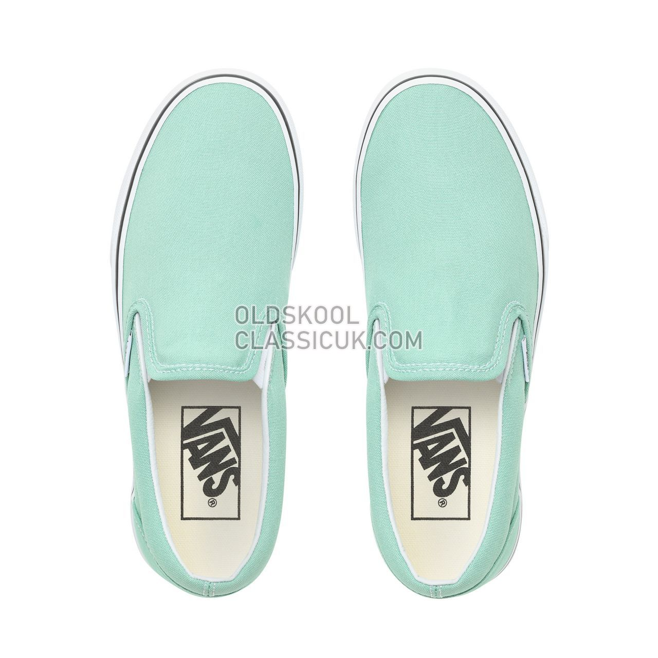 Vans Slip-On Sneakers Womens Neptune Green/True White VN0A38F7VMX Shoes