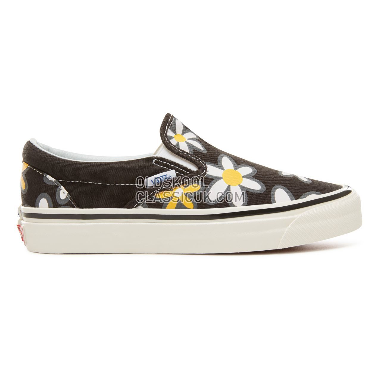 Vans Anaheim Factory Classic Slip-On 98 Sneakers Womens (Anaheim Factory) Og Black/Flower Power VA3JEXU7X Shoes