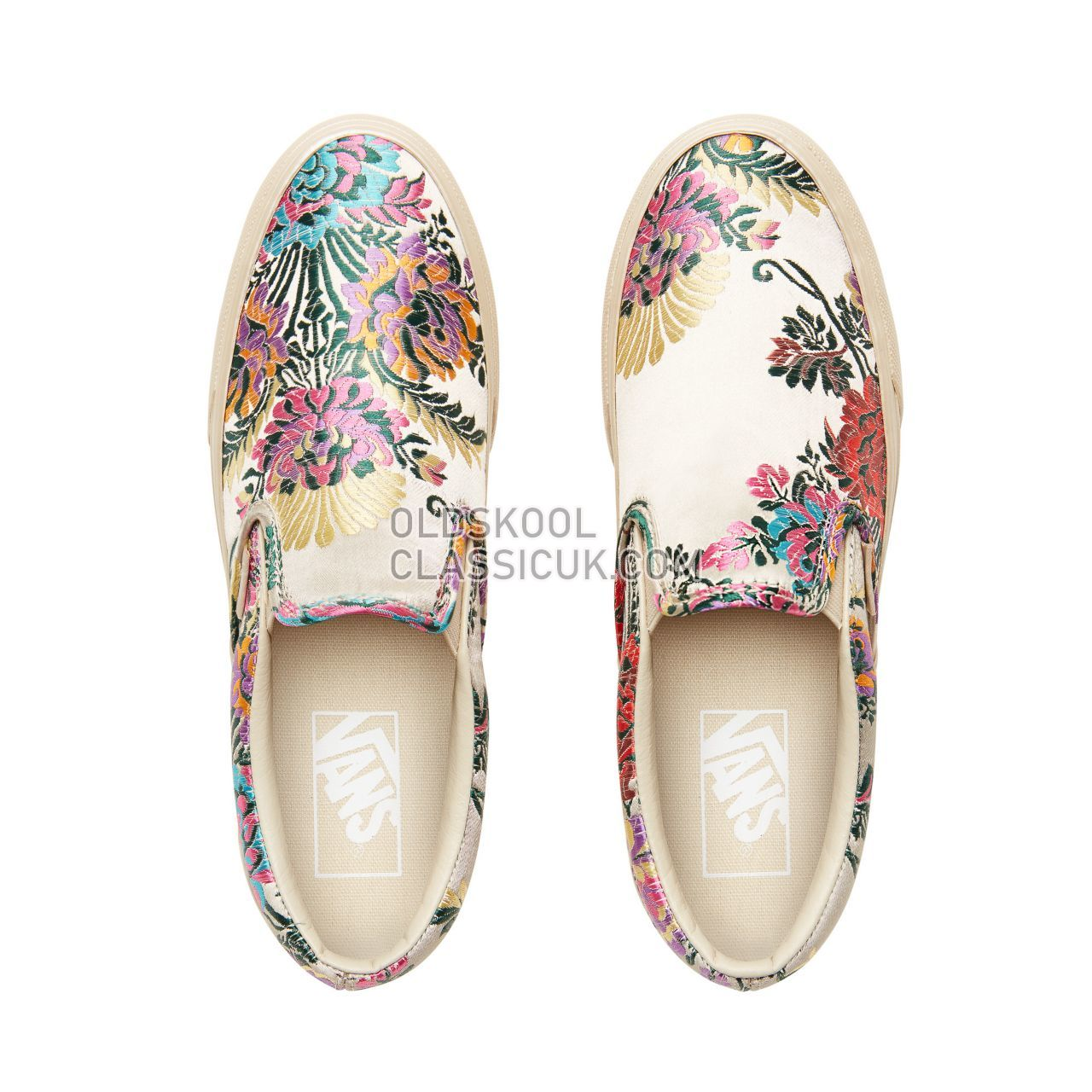Vans Festival Satin Classic Slip-On Sneakers Womens (Festival Satin) Gold/Gold VN0A38F7ULO Shoes
