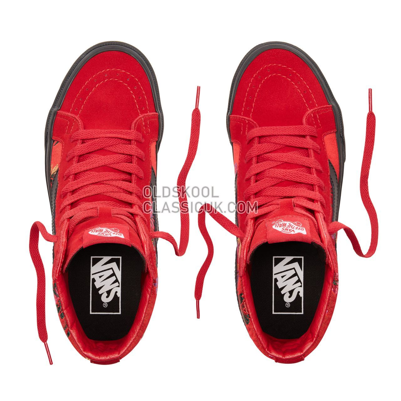 Vans Festival Satin Sk8-Hi Reissue Sneakers Womens (Festival Satin) Red/Black VN0A2XSBULP Shoes