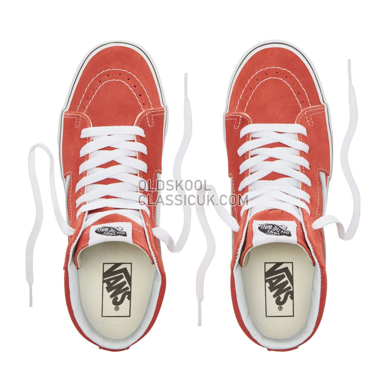 Vans Sk8-Hi Sneakers Womens Hot Sauce/True White VN0A38GEUKZ Shoes