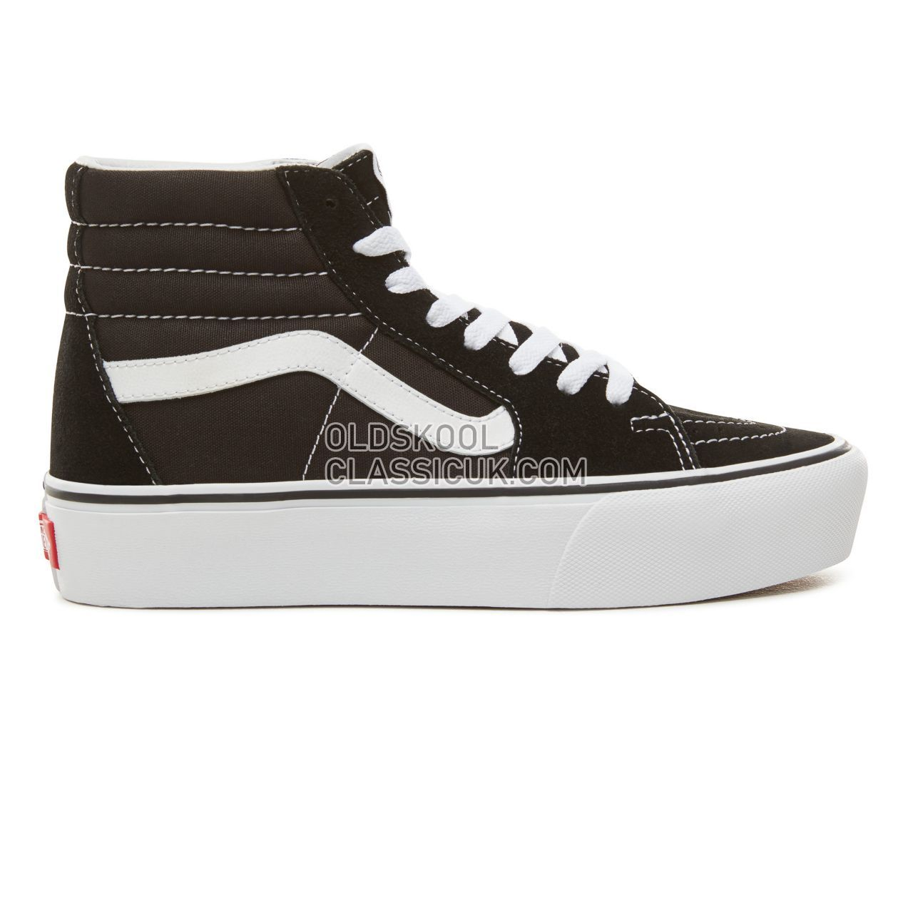 Vans Suede  Sk8-Hi Platform 2.0 Sneakers Womens Black/True White VN0A3TKN6BT Shoes