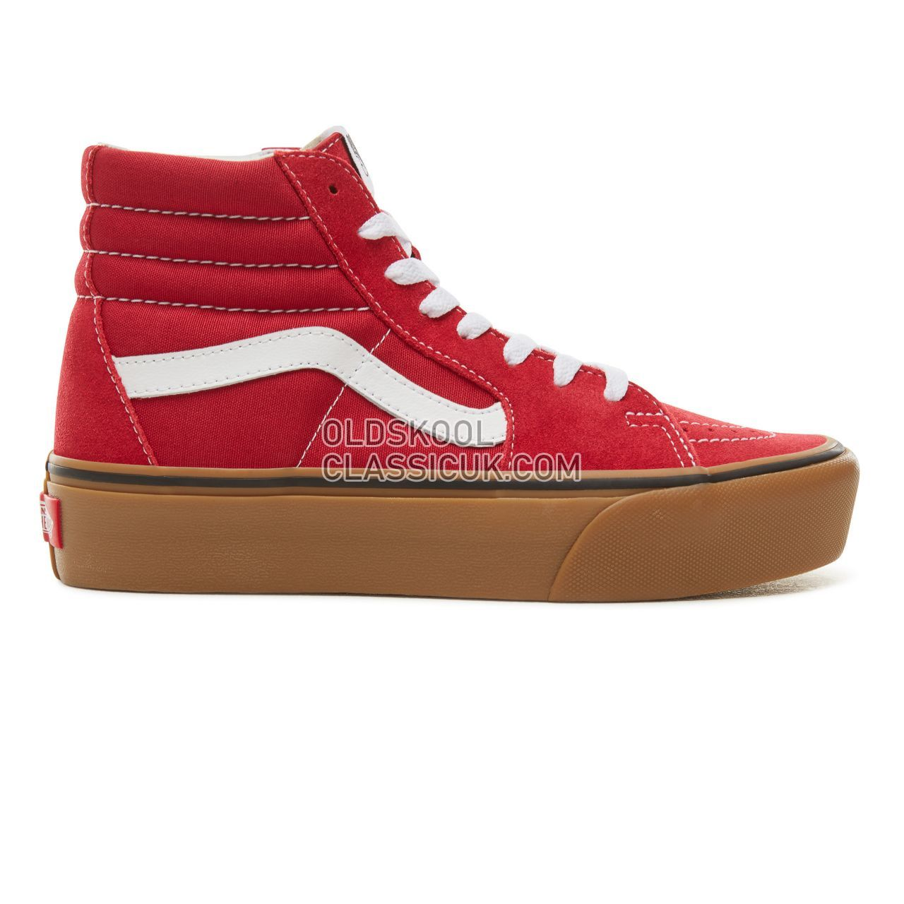 Vans Suede Gum Sk8-Hi Platform 2.0 Sneakers Womens (Gum) Scooter/True White VA3TKNUCD Shoes