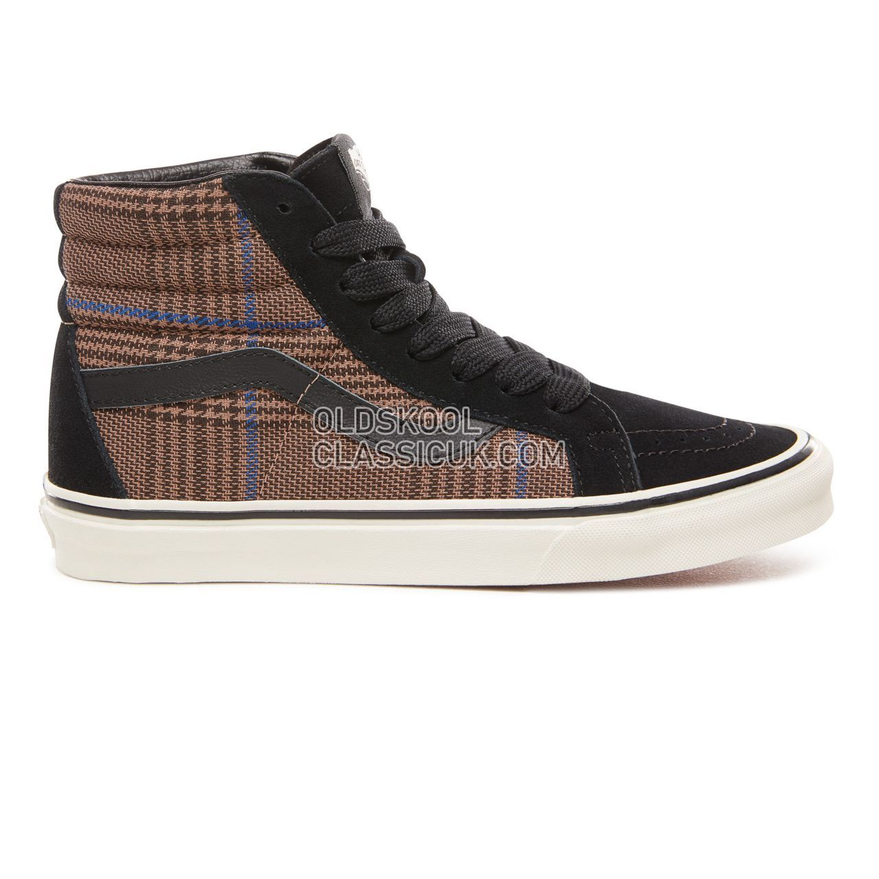 Vans Design Assembly Sk8-Hi Reissue Sneakers Womens (Design Assembly) Glen Plaid/Marshmallow VN0A2XSBUQI Shoes