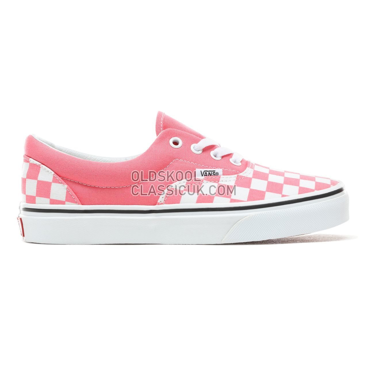 Vans Checkerboard Era Sneakers Womens (Checkerboard) Strawberry Pink/True White VN0A38FRVOX Shoes