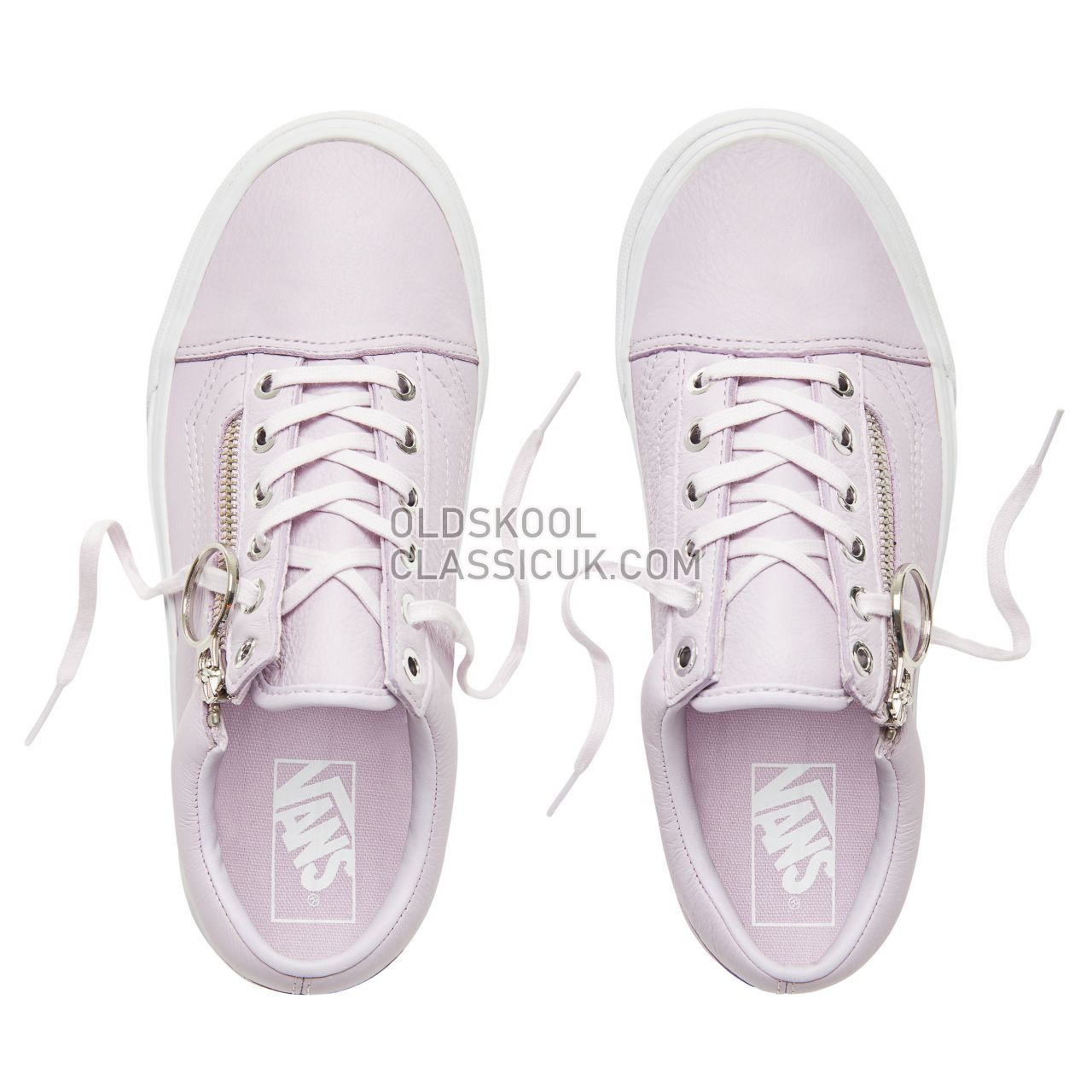 Vans Metal Hardware Old Skool Zip Sneakers Womens (Metal Hardware) Lavender Fog/True White VA3493UB9 Shoes
