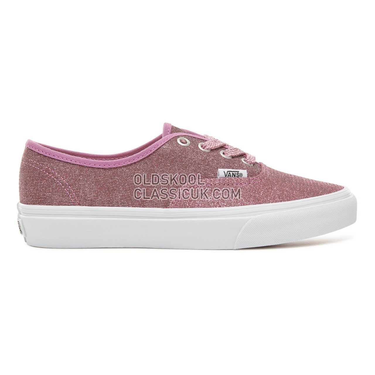 Vans Lurex Glitter Authentic Sneakers Womens (Lurex Glitter) Pink/True White VA38EMU3U Shoes