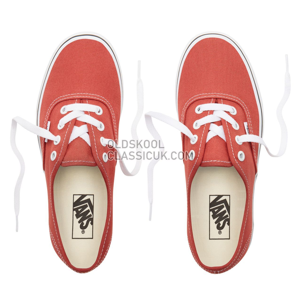 Vans Authentic Sneakers Womens Hot Sauce/True White VN0A38EMUKZ Shoes