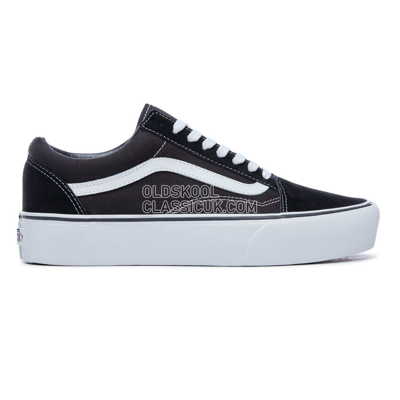 Vans Platform Old Skool Sneakers Womens Black/White VN0A3B3UY28 Shoes