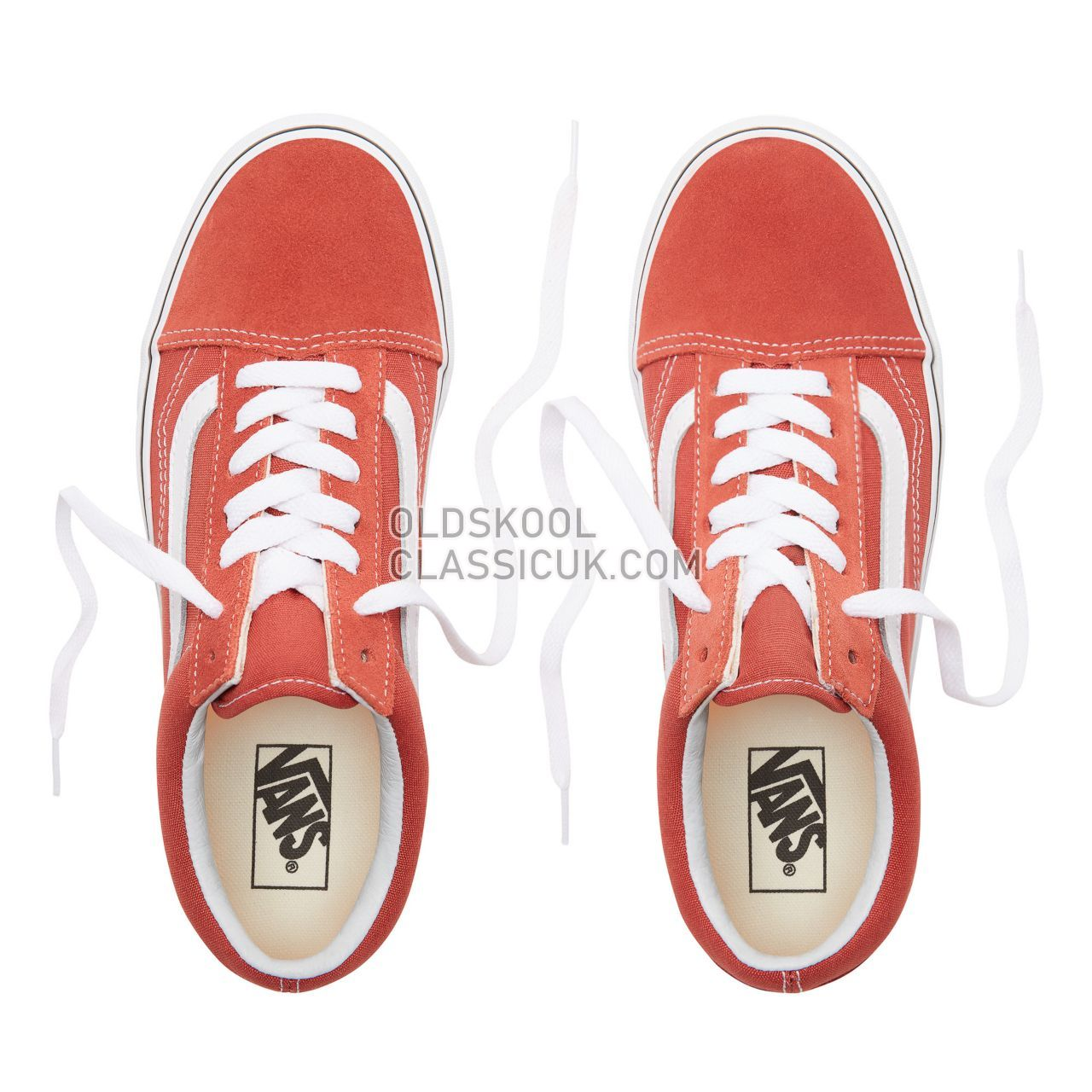 Vans Old Skool Sneakers Womens Hot Sauce/True White VN0A38G1UKZ Shoes