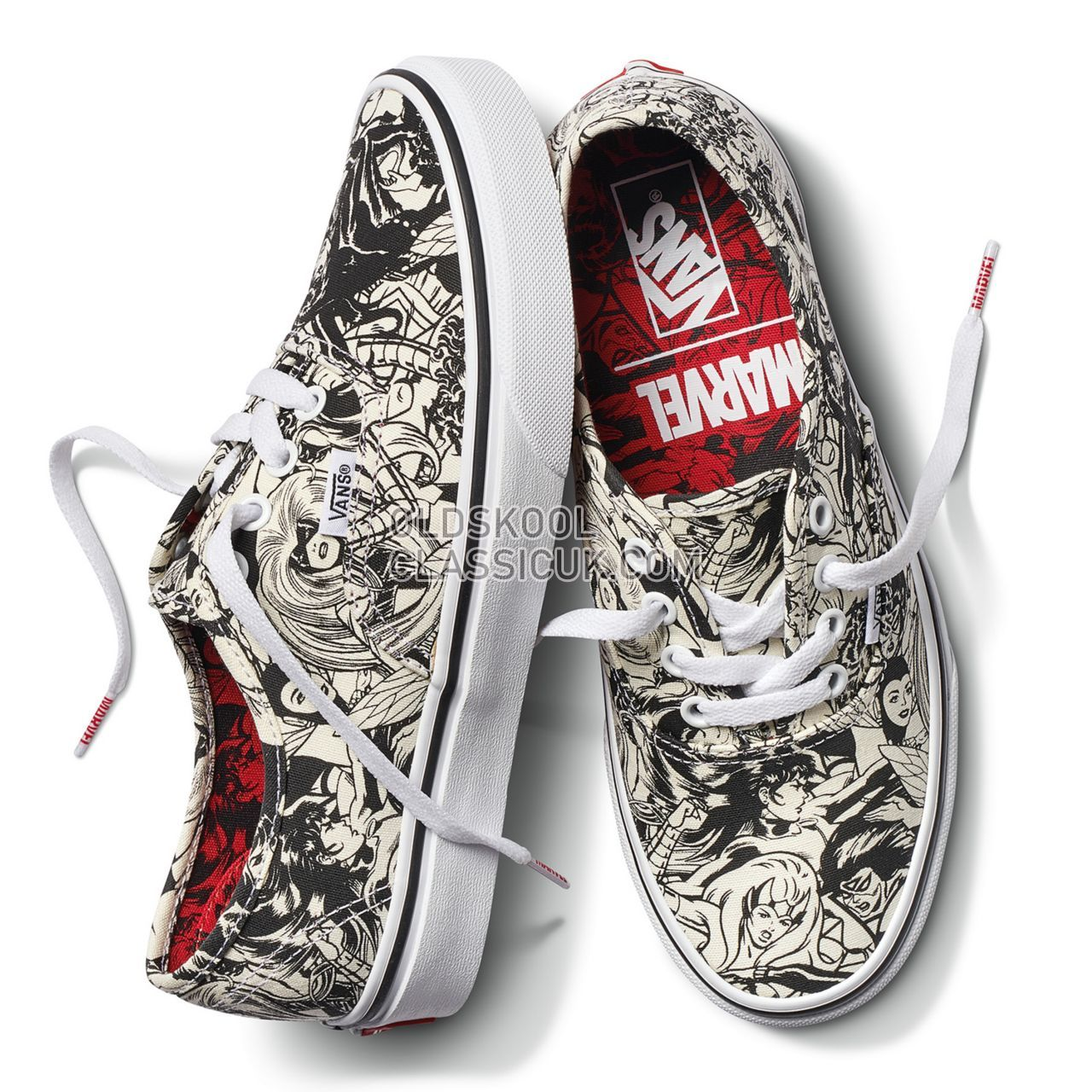 Vans X Marvel Authentic Sneakers Womens (Marvel) Multi/Women VA38EMU5I  Shoes - £54