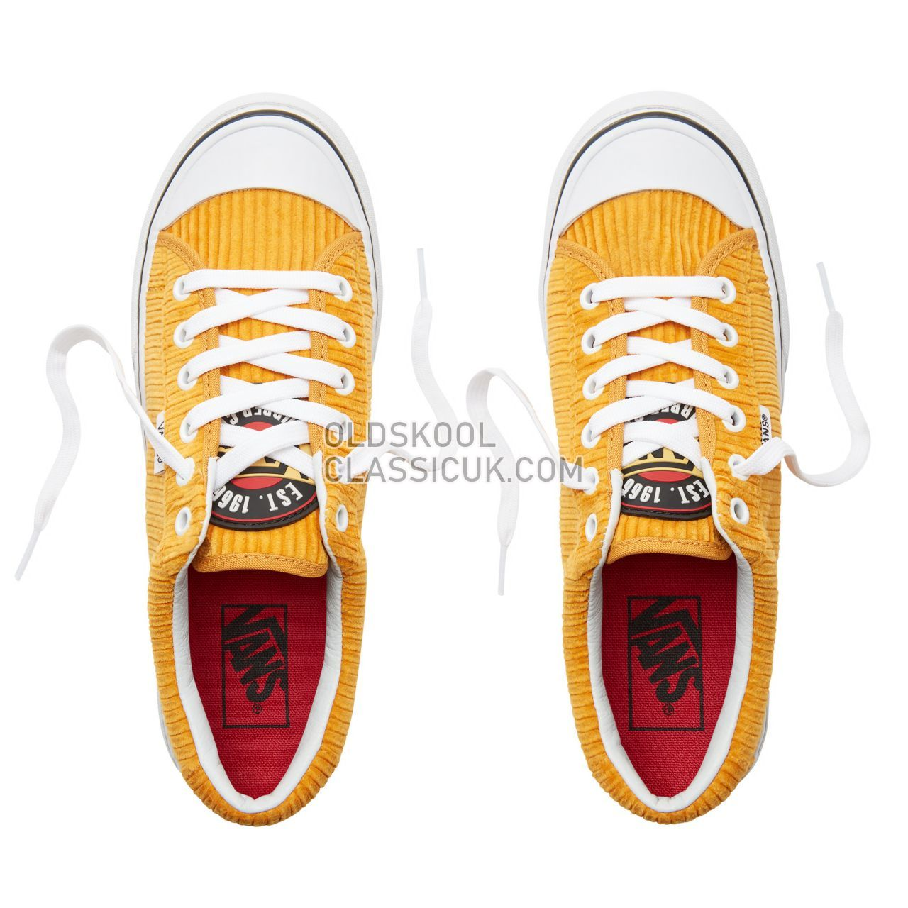 Vans Design Assembly Corduroy Style 29 Sneakers Womens (Design Assembly) Sunflower/True White VA3MVHU7D Shoes