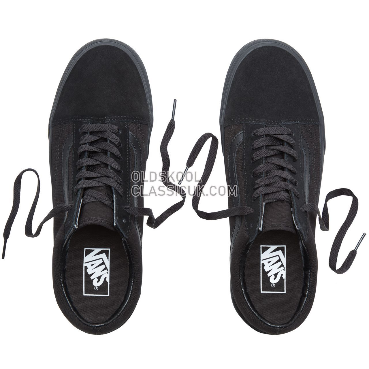 Vans Platform Old Skool Sneakers Womens Black VN0A3B3UBKA Shoes