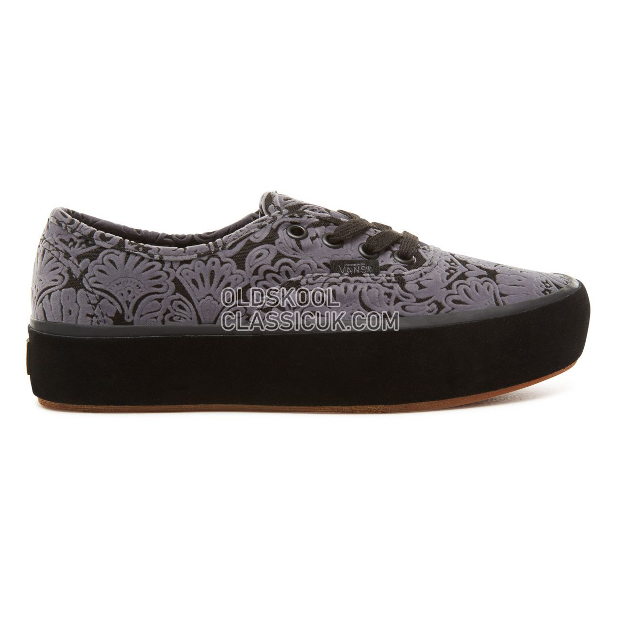 Vans Sidewall Wrap Authentic Platform 2.0 Sneakers Womens (Sidewall Wrap) Suede/Black VA3AV8U6N Shoes