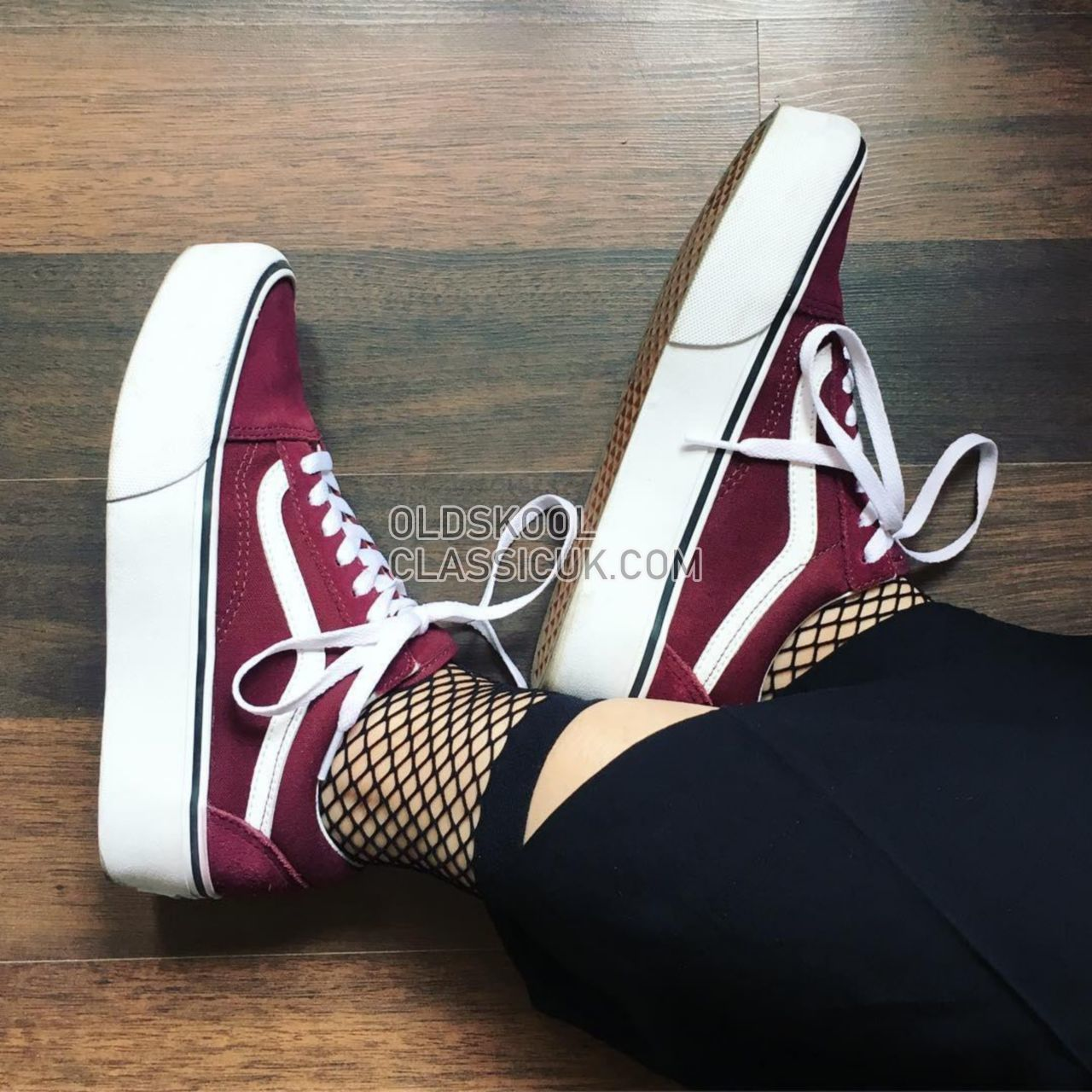 Vans Platform Old Skool Sneakers Womens Port Royale/True White VA3B3U5U7 Shoes